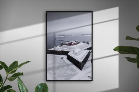 Snö på Varbergs Fästning